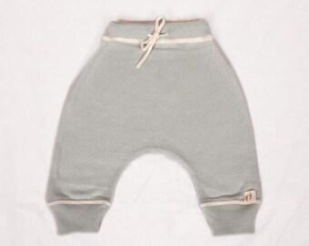 Babies Baby Blue Fine Knit Cashmere/Cotton Trousers