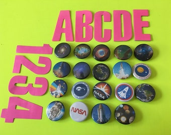 NASA Edition ϟ 1.25 inch pinback buttons
