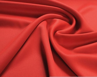 Fabric polyester black out red soft flowing