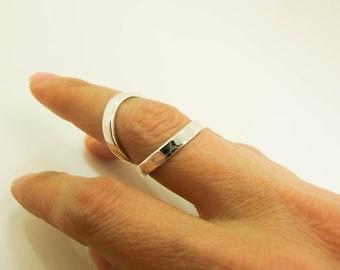Sterling Silver Wide Band Swan Neck Splint - Rheumatoid Arthritis Splint - Hypermobility Splint - Silver Ring Splint - EDS Splint - Splints