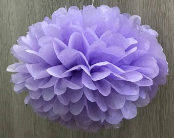 6x Lilac Tissue Paper Pom Poms 21st First Birthday Party Fairy Party Baby Shower Wedding Bridal Shower Decorations