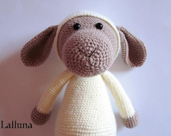 "Crochet Instruction e-book Amigurumi XXL sheep ""soul comforter"""