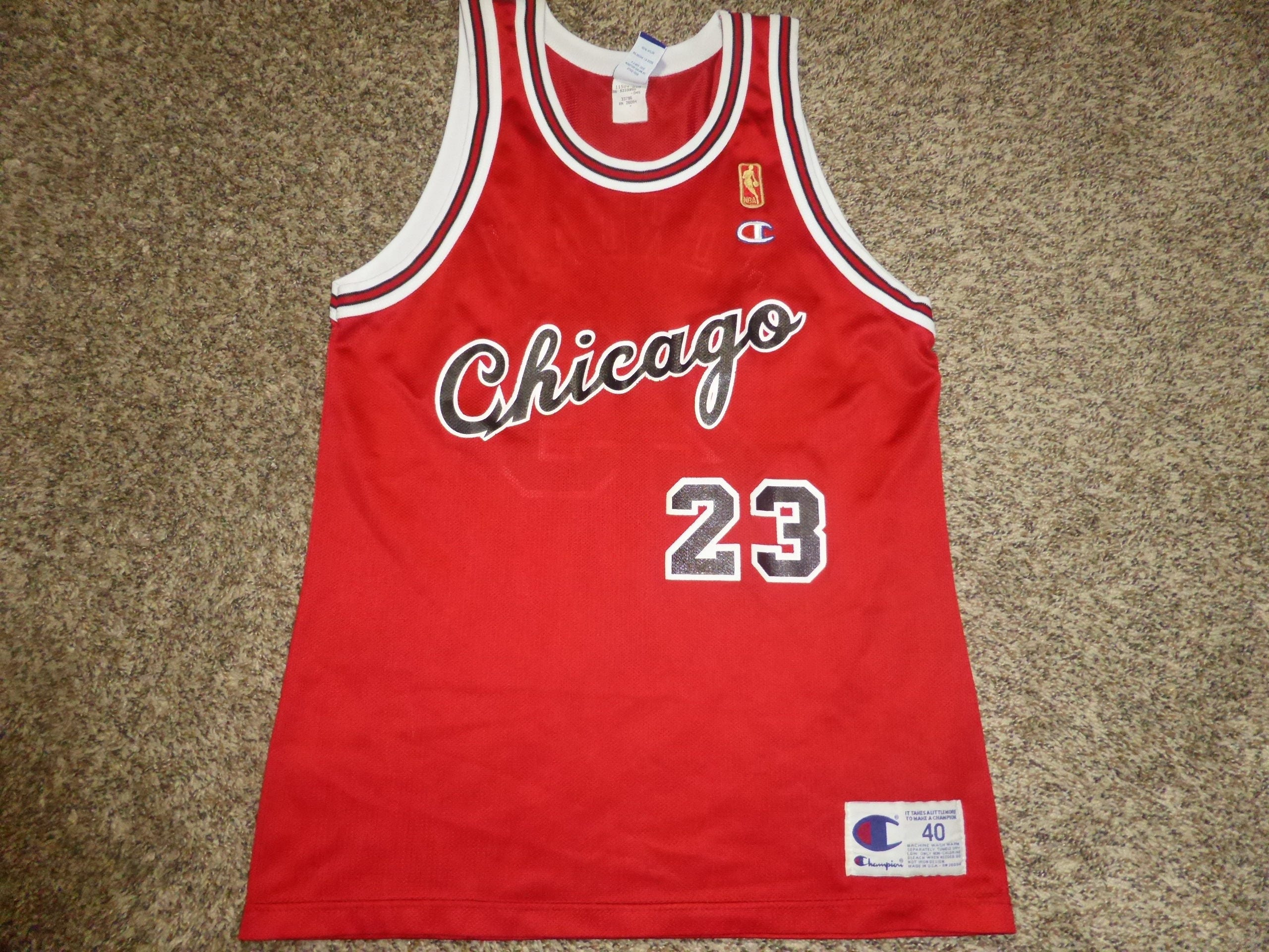 8dc8e1b9b53 ... usa vtg michael jordan chicago bulls nba gold logo champion jersey  75235 5ea8d