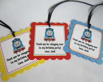 Thomas the Train party favor tags