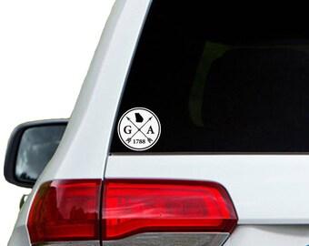 Georgia Arrow Year Car Window Decal Sticker