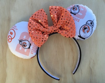 BB8 Star Wars Minnie Mouse Ears