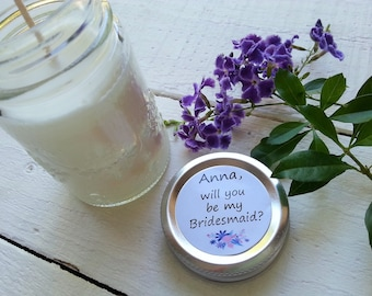 Will you be my Maid of Honour Soy Candle, Bridesmaid Baroque Jar, Bridesmaid Soy Candle, Personalized Bridesmaid Gift, Bridesmaid Candle
