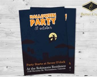 Halloween Invitation | Halloween Party | Custom Invitation Design