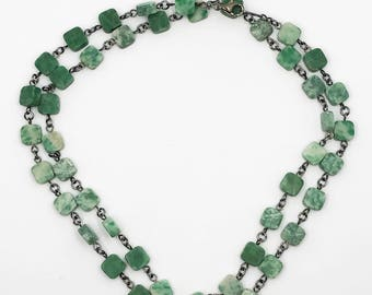 "30.5"" moss agate necklace"