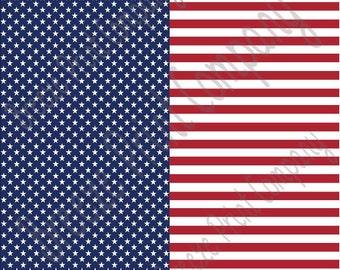 Flag stars and stripes craft  vinyl sheet - HTV or Adhesive Vinyl -  pattern HTV2800