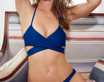 Custom Wrap Criss Cross Bikini Top