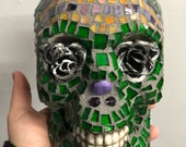 Green Glass Sugar Skull...