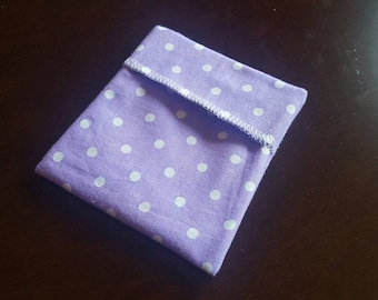 Ready to ship! Pad Wrapper- Purple Dot