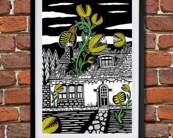Houseplants - Giclee Print (Unframed)