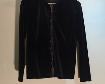 Black velvet with button jacket