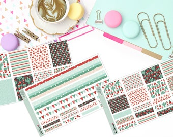 CHRISTMAS CACTUS KIT Paper Planner Stickers!