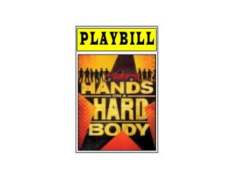 Theater / Show Charm - Playbill  - Hands on a Hard Body