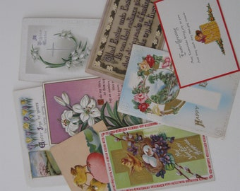 Lot of Antique Easter Postcards