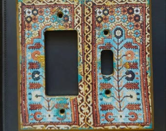 Moroccan inspired Light Switch Plate
