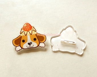 Dog Pin, Beagle Pin, Enamel Pin, Dog Enamel Pin, Acrylic Pin, Dog Brooch, Kawaii Pins, Beagle Pin, Acrylic Charms, Dog Lapel Pin, Accessory