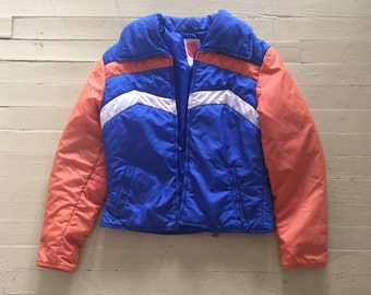 1970s Puffy SKYR Vintage Women's Ski Jacket