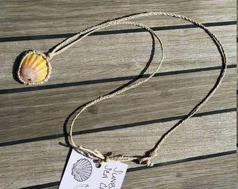 Hemp wrapped sunrise shell