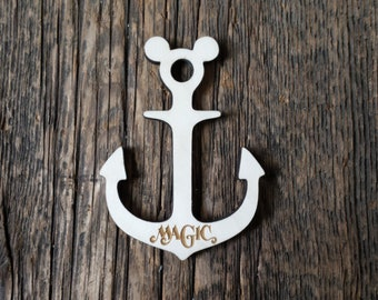 Disney cruise anchor magnets, disney cruise, fish extenders, disney gift, mickey door magnet, dream, fantasy, magic, wonder,