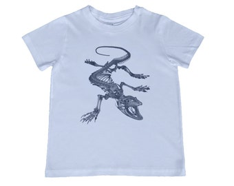 Child Crocodile Skeleton Tshirt - other colors personalization available, youth sizes xs, s, m, l