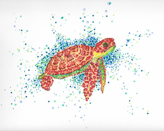 Dot Pointillism Painting Artist