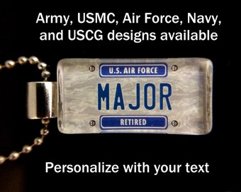 Military Personalized License Plate Cuff Links