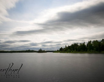 Minnesota Landscape, Lake Photography, Long Exposure, Water Images, Boundary Waters, BWCA Pictures, 8x10 8x12 9x12, 10x13 11x14, Evergreens