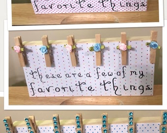 Favorite Things Picture Display