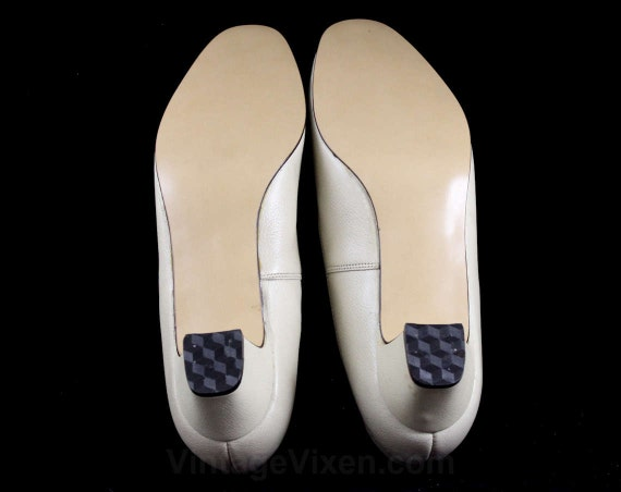 Pumps 60s Made Shoe Deadstock Beige 46946 Size 8 Genuine Style Leather The Ecru In 1950s Classic Spectator Retro Shoes Style 1980s qFpAwp1BnY