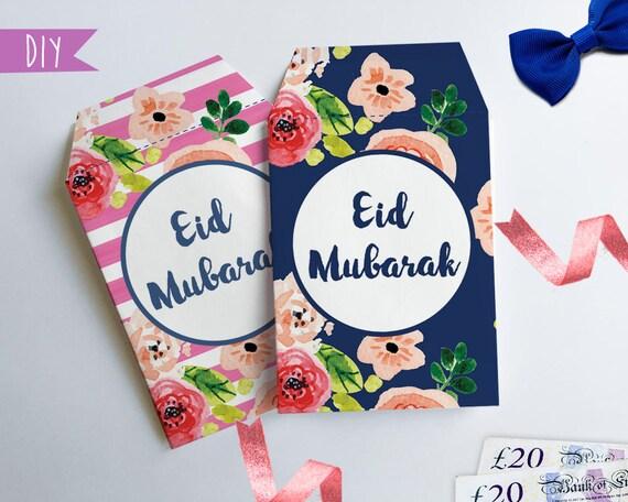 Favorite Printable Eid money envelopes Money package envelope DIY Eid PN08