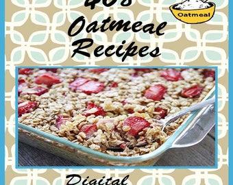 468 Oatmeal Recipes E-Book Cookbook Digital Download