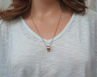 Cute Necklace, Rose Gold Chain Necklace, Everyday Jewelry, For Layering, Christmas Jewelry Gift For Her, Popular Charms, Eternity Circle