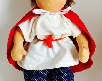 40cm waldorf style doll, handmade with eco-friendly material, unique piece
