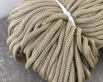 Macrame cord Gold, polyester rope, 109 yards/100 meters, Crochet yarn, Knitting yarn, Rope supplies, Craft supplies, chunky rope, craft rope