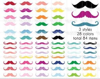 Moustache Clipart Vector Mustache Clip Art Rainbow Moustache Scrapbooking Mustache Planner Sticker Clipart Hipster Gentleman Clipart