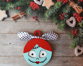 Sally Ornament, Jack Skeleton Ornament, Nightmare Before Christmas Ornament