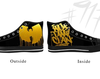 Wu-tang wutang clan  high top canvas  art shoes i Custom print sneakers hip hop Rap