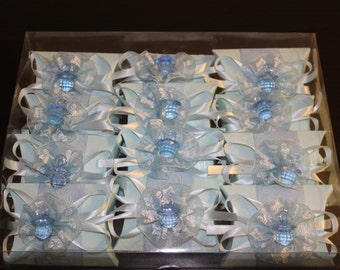 Blue Baby Shower Pillow Box Favors