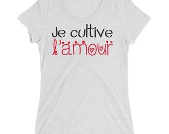 Maternity shirt   Je cultive l'amour