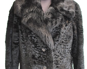 Vintage SHEARED MINK FUR coat ,Full length  women's winter coat , luxurious fur coat...............(575)