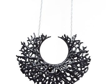 Vessel Pendant (black 3D printed nylon)
