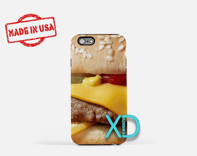 Cheeseburger iPhone Case, Food iPhone Case, Cheeseburger iPhone 8 Case, iPhone 6s Case, iPhone 7 Case, Phone Case, iPhone X Case, SE Case