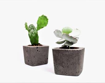 Industrial Grey Concrete Planter Urban Pot Modern Planter Cement Succulent Home Decor