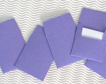 36+ teeny tiny envelope note card sets handmade wild pansy purple mini miniature square party favors weddings stationery guest book