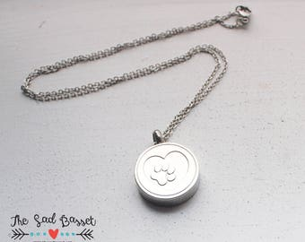 Paw Print Cremation Urn Necklace | Personalized Cremation Jewelry | Cremation Urn Jewelry | Dog, Cat | Pet Memorial Necklace | Cremains