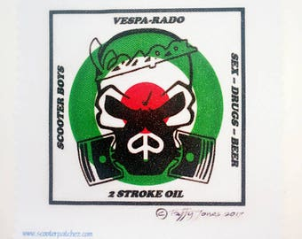 Vespa / Scooter Rally - Sew on Patch